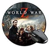 Guerra Mundial Z World War Z Brad Pitt B Tappetino Per Mouse Tondo Round Mousepad PC