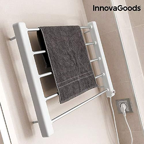 InnovaGoods Porte-serviettes électrique mural, aluminium et ABS, blanc/gris, 60x 43x 4cm