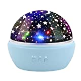 Lampada Proiettore Stelle Luna, Powcan Oceano Proiettore Luce Notturna per Bambini (blu)