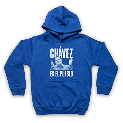 Hugo Chavez Es El Pueblo Kinder Kapuzensweater, Blau, 3-4 Jahren