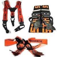 Lot de 3 bretelles DOLMAR HUSQVARNA STIHL couleurs Noir Orange 130, 107,  110 cm bfa922b542f4