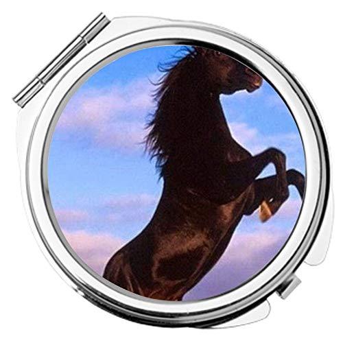 Babu Building Metall Individuell Für Frauen Zum Cosmetic Mirror Design Horse -