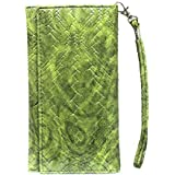 J Cover A5 I Bali Leather Wallet Universal Pouch Cover Case For Asus ZenFone 4 Max Pro Green
