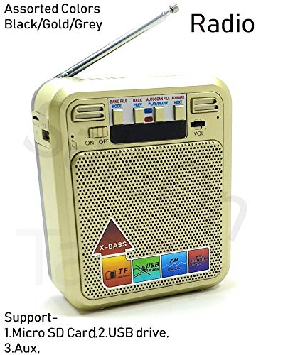 SaleOnTM Rechargeable Outdoor Fm Radio Speaker Portable Speaker with MP3 TF Memory Card, USB Drive, AUX, Multimedia Speaker with Antenna
