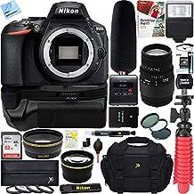 Nikon D5600 24.2 MP DX-Format Full HD 1080p Digital SLR Camera Body + Sigma 70-300mm Macro Telephoto Lens Tascam Video Creator Bundle