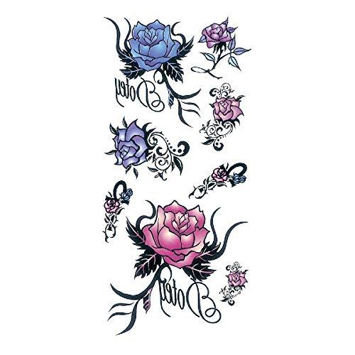 Amy TL Wasserdichte Tattoo Aufkleber Spot Traumfänger Vogel Blume Vanilla Deer Feather 3Pcs-40 90 * 190 MM -