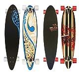 Nijdam Street Waves Longboard Pintail, Blau/Orange/Anthrazit, One Size/39 Zoll