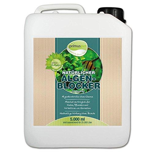 primuspet Natürlicher Algen-Blocker 5.000 ml (GRATIS Lieferung innerhalb Deutschlands - Algenkontrolle ohne Chemie. Wirkt auf natürliche Weise bei lichtbedingtem Algenwuchs und Befall im Aquarium. Garantiert verträglich für Garnelen und Wirbellose)