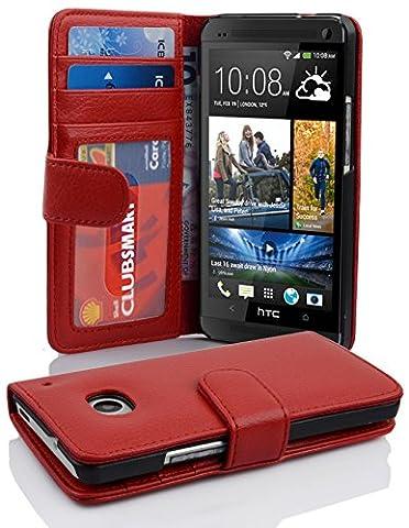 Cadorabo - Book Style Hülle für HTC ONE M7 (1. Generation) - Case Cover Schutzhülle Etui mit 3 Kartenfächern in