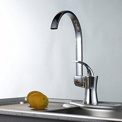 SBWYLT-Europeo moderno spool rame disegno alto girevole angolo lavello cucina (Valvola A 3 Spool)