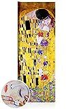 Quadri L&C ITALIA Klimt Il Bacio 30 x 83 Quadri Moderni Soggiorno Camera da Letto Cucina Ufficio Stampa su Tela