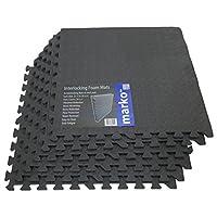 24 Sq Ft Interlocking Foam Mats Tiles Gym Play Garage Workshop Floor Dark Grey
