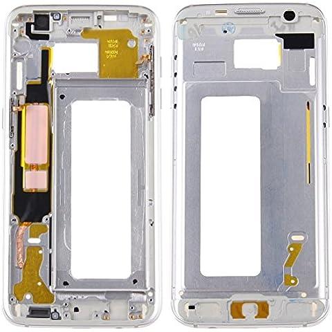 Piezas de repuesto de teléfonos móviles, iPartsBuy para Samsung Galaxy S7 Edge / G935 LCD frontal de la carcasa del capítulo del bisel de la placa ( Color : Plateado )