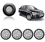 #10: Auto Pearl - Premium Quality Car Full Wheel Cover Caps Silver and Black 14 Inches For - Ford Fiesta Classic
