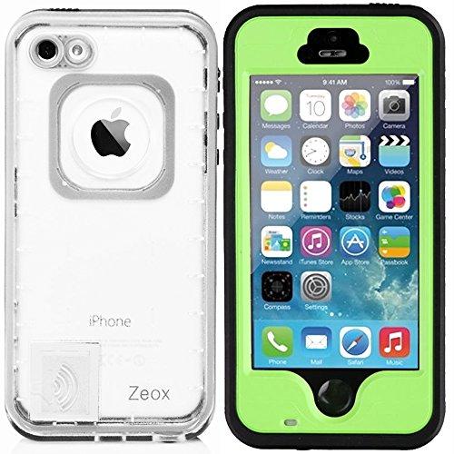 iPhone SE Fall, iPhone 5S Fall, zeox iPhone SE Wasserdicht Stoßfest schmutzfest Schneedicht Schutz Schutzhülle für Apple iPhone SE/iPhone 5S/iPhone 5-, Grün - Für Otterbox-handy-fall 5s