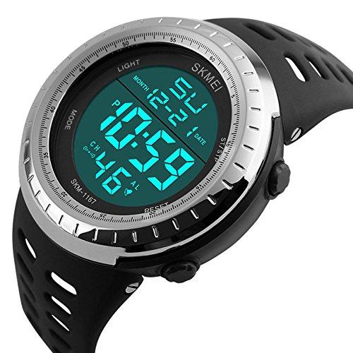 1d998d935 Sunjas – Reloj de pulsera led digital deportivo analógico multifunción ...
