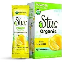 Bolsas de deliciosa limonada orgánica en polvo Stur©–7bolsas de limonada en polvo–ingredientes ecológicos y sin OGM. SIN aspartamo, SIN sucralosa, SIN colorante rojo / amarillo / azul, SIN conservantes
