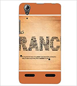 PrintDhaba Typography D-1392 Back Case Cover for LENOVO A6000 PLUS (Multi-Coloured)