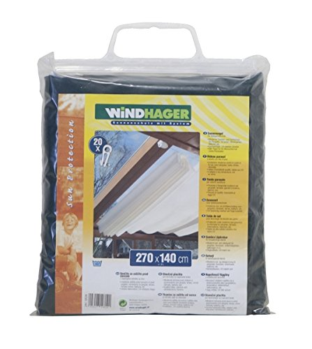 Windhager Sonnensegel für Seilspanntechnik, Uni-Grün, 270 x 140 cm