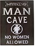 Blechschild Dekoschild Schild Warning Man Cave No Woman Allowed 25x33cm