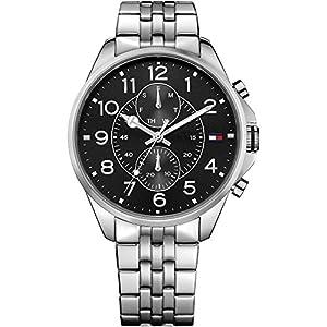 Tommy Hilfiger Hombre Reloj de pulsera Casual Sport analógico de cuarzo Acero inoxidable 1791276