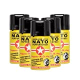 Pfefferspray American Style NATO 40ml Extreme Pepperspray Abwehrspray Fog 5 Stück im Set