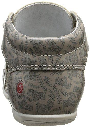GBB Mae, Chaussures Bébé marche bébé fille Gris (31 Vvn Gris/Imprimé Dpf/Kezia)