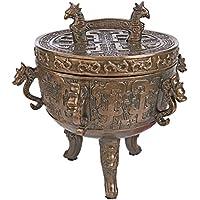 Design Toscano eu9339Drago Tempio Faux incenso Sensore, colore bronzo