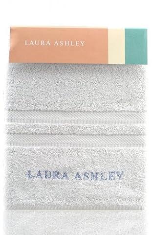 Laura Ashley Badetuch Weiß, 100% Baumwolle, 100x150cm