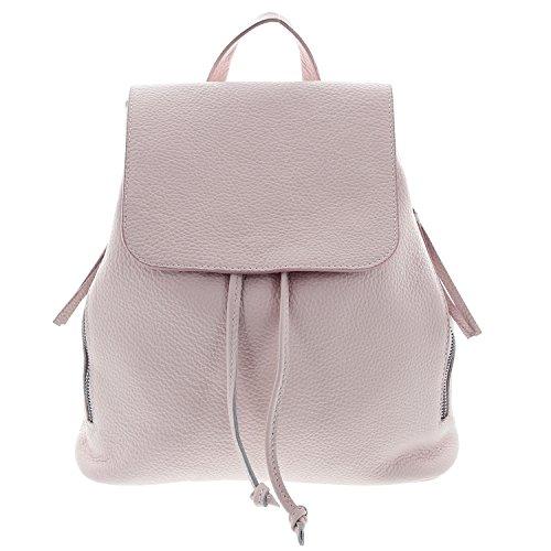 IO.IO.MIO Ital. Rucksack für Damen echt Leder leichter Tagesrucksack Daypack Frauen Lederrucksack...