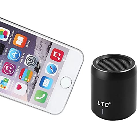 LTC Mini Portátil Wireless Inalámbrico Bluetooth 4.1 Super Bass Estéreo 3.5mm NFC 360° Sound LED CSR-Chip USB WiFi Speaker Altavoz MP3 Player Negro