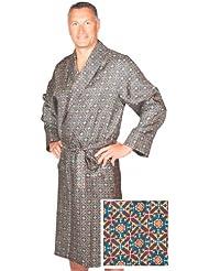Robe de Chambre en Soie - Bleu Marine Assorti - Homme - Peignoir
