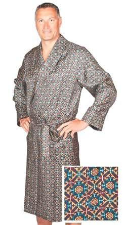robe de chambre en soie bleu marine assorti homme peignoir v tements et. Black Bedroom Furniture Sets. Home Design Ideas