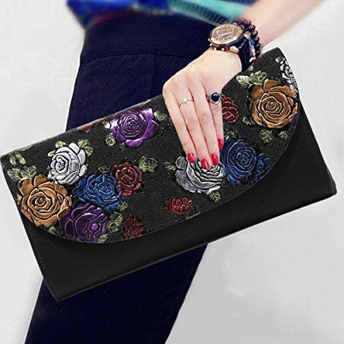 Borsa Da Donna Elegante In Stile Etnico Vintage Con Stampa A Tracolla Black