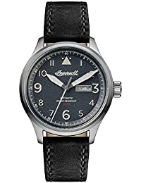 Ingersoll Men's The Bateman Quartz Watch withSchwarz Dial andSchwarz Leather Strap I01802