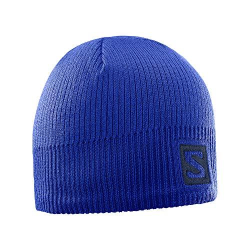 Salomon, Unisex Logo Mütze, Für Wintersportler, LOGO BEANIE, Blau (Surf The Web), L39495900 Logo Beanie-mütze