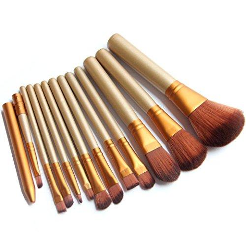 Internet 12pcs Pro Maquillage Pinceaux teint poudre fard à paupières Eyeliner Lip outil Pinceau