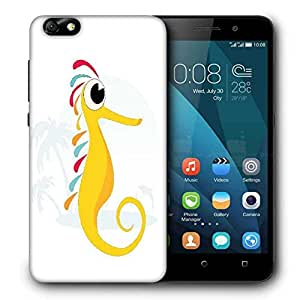 Snoogg seahorse illustration Designer Protective Back Case Cover For Huawei Honor 4X