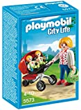 Playmobil - A1501471 - Jeu De Construction - Maman Avec Jumeaux Avec Landau