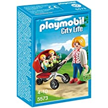 Playmobil Guardería - Mamá con carrito de gemelos, ...