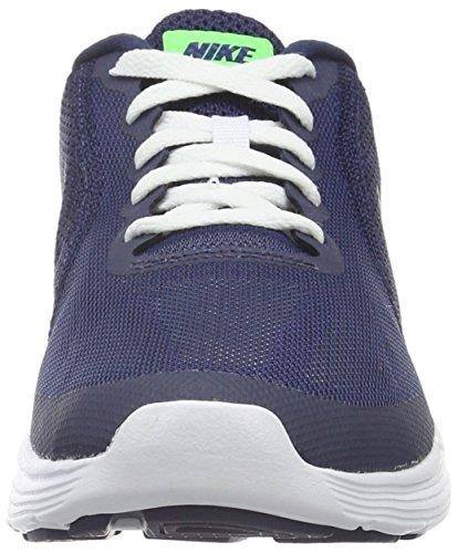 Nike Revolution 3, Scarpe da Corsa Bambino Blu (Deep Royal Blue/Vltg Green-Wht)