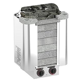 SAWO CUMULUS 8,0 kW Elektrische Saunaofen; mit integrierte Steuerung (NB-Modell); Multispannung: entweder Einphasig oder 3-Phasig; Edelstahlgehäuse mit Speckstein vorne