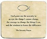 Christianity Premium Mauspad - 5 mm-Fische-'The Serenity Prayer'