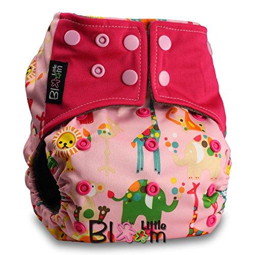 Preisvergleich Produktbild LittleBloom, Reusable Pocket Real Cloth Nappy Washable Diaper BAMBOO CHARCOAL