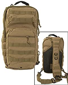 Tactical Padded Assault Backpack Large One Strap Sling MOLLE Daypack Coyote Tan