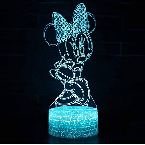 Mickey Mouse Minnie Thema 3D Lampe LED Nachtlicht 7 Farbwechsel Touch Stimmung Lampe Weihnachtsgeschenk