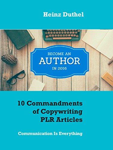 10 Commandments of Copywriting PLR Articles: Communication Is ...