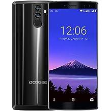 Smartphone 4G Barato, DOOGEE BL12000 Movile Libre Dual SIM, Pantalla de 6 Pulgadas 18:9 FHD+, 4GB RAM 32GB ROM, MT6750T Octa Core Android 7.0, Cámara Trasera 16+13 MP, 12000mAh Battery 12V3A Carga Rápida - Negro