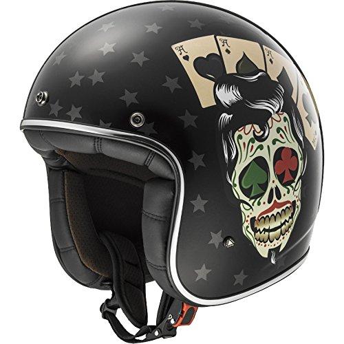 LS2 OF583 Bobber Retro-Jethelm Tattoo schwarz S - Motorradhelm
