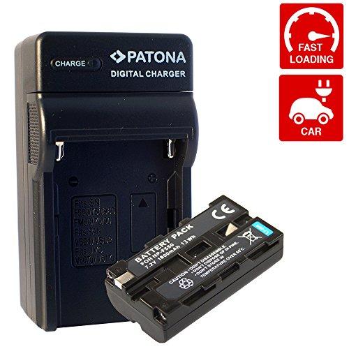 Ladegerät PATONA + Akku für SONY NP-F330 NP-F530 NP-F570 NP-F550